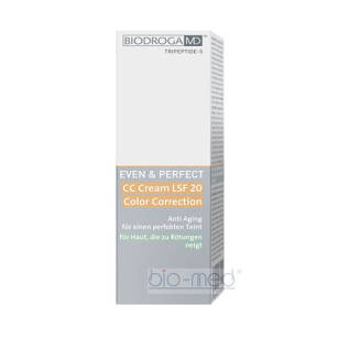 Biodroga MD EVEN & PERFECT CC Cream SPF 20 Color Correction For A Skin Tending To Redness