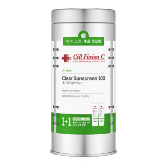 Cell Fusion C Clear Sunscreen SPF48/PA+++ PROMO-metal BOX