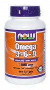 NOW Foods Omega 3-6-9 100 kapsułek po 1000 mg