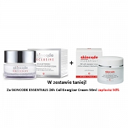 SKINCODE ZESTAW EXCLUSIVE Cellular Wrinkle Prohibiting Eye Contour Cream + ESSENTIALS 24h Cell Energizer Cream