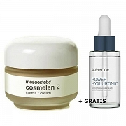 Mesoestetic ZESTAW Krem Cosmelan 2 + SKEYNDOR POWER HYALURONIC Moisturizing Booster Serum