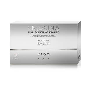 CRESCINA Hair Follicular Island Complete Treatment 2100 for Man - 10+10amp.