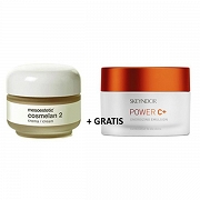 Mesoestetic ZESTAW Krem Cosmelan 2 + SKEYNDOR POWER C+ Energizing Emulsion Combination to oily skins